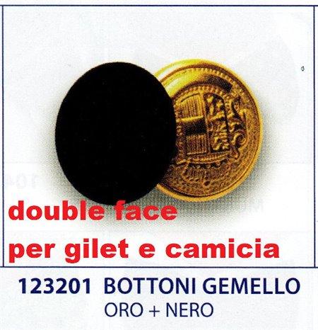 CONF.4 BOTTONI GEMELLO ORO+NERO 123201