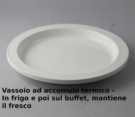 VASSOIO TERMICO TONDO 30CM. H.4 BIANCO