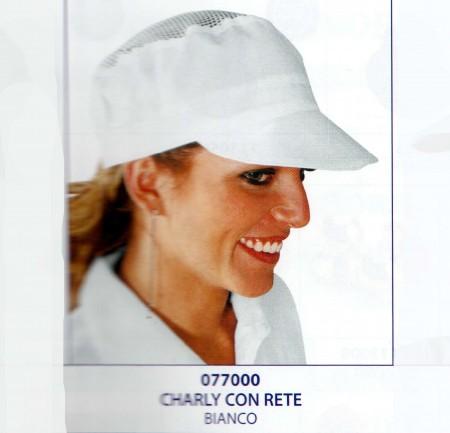 CAPPELLO CHARLY BIANCO C/RETE COT.077000